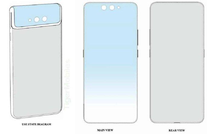 Xiaomi smartphone dobrável patente design