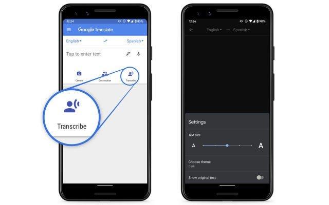 Google Tradutor em tempo real