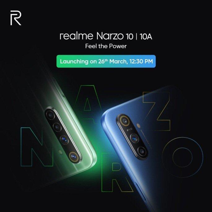 Realme Narzo 10 apresentação