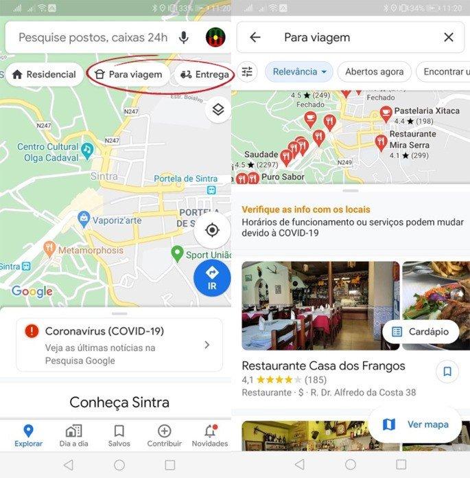 Google Maps Quarentena