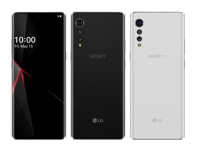 LG Velvet design renders