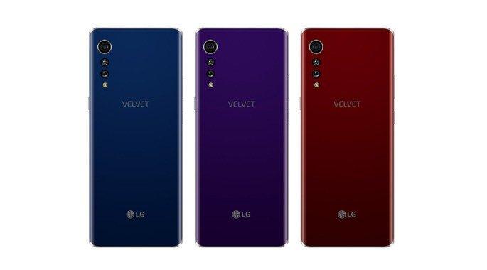 LG Velvet renders