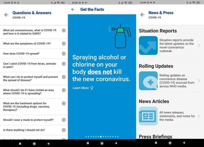 COVID-19 aplicação oficial Android