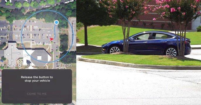 Tesla Elon Musk parqueamento autónomo