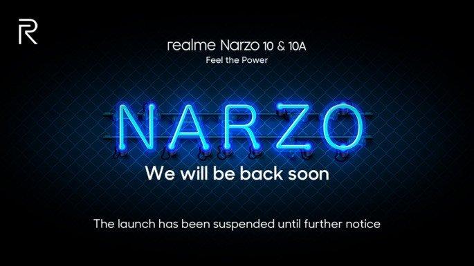 Realme Narzo 10 adiado