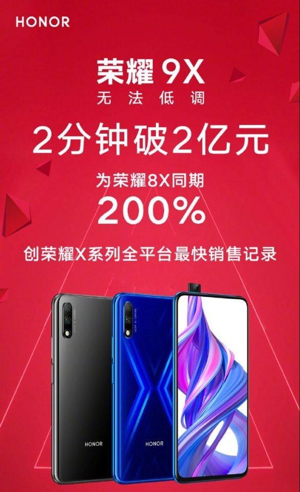 Huawei Honor 9X vendas China