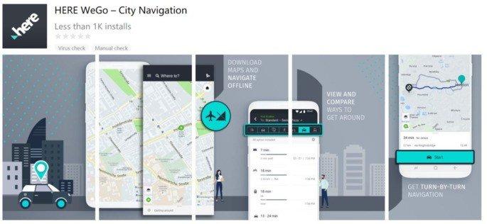 HERE WeGo Huawei Google Maps