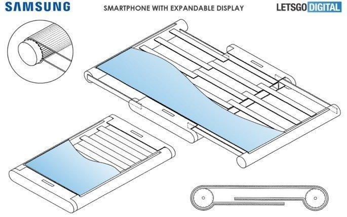 Samsung Patente ecrã expansível