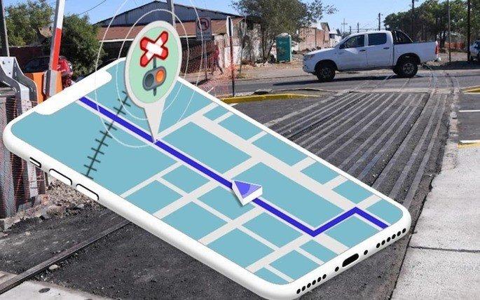 Google Maps Waze passagem de nível