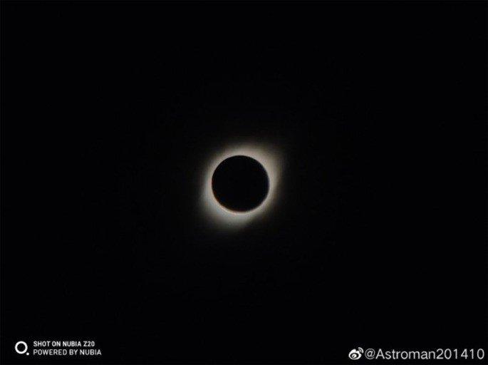 ZTE Nubia Z20 eclipse solar