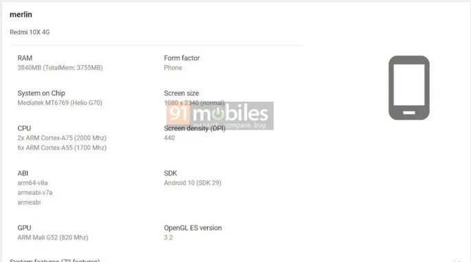 Xiaomi Redmi X10 Google Play Console