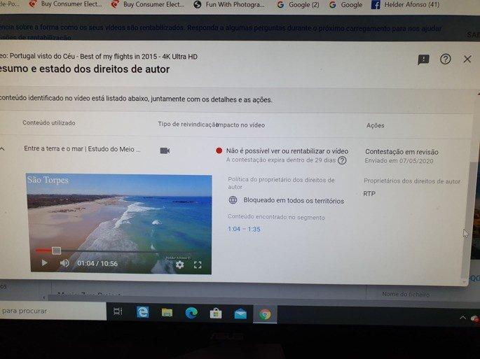 RTP rouba direitos YouTube português