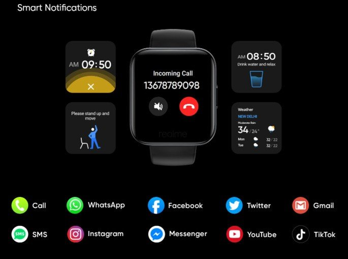 Realme Watch notificações