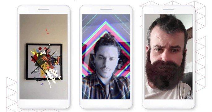 Instagram filtros de realidade aumentada
