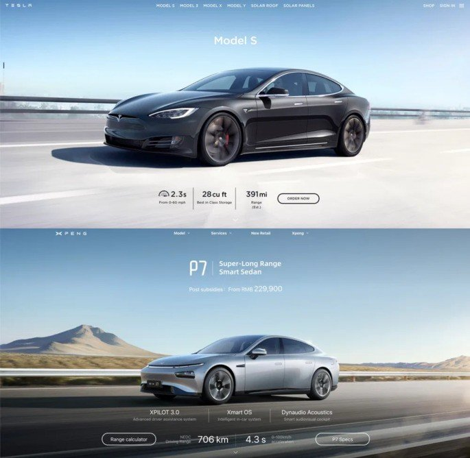 Tesla Clone China website