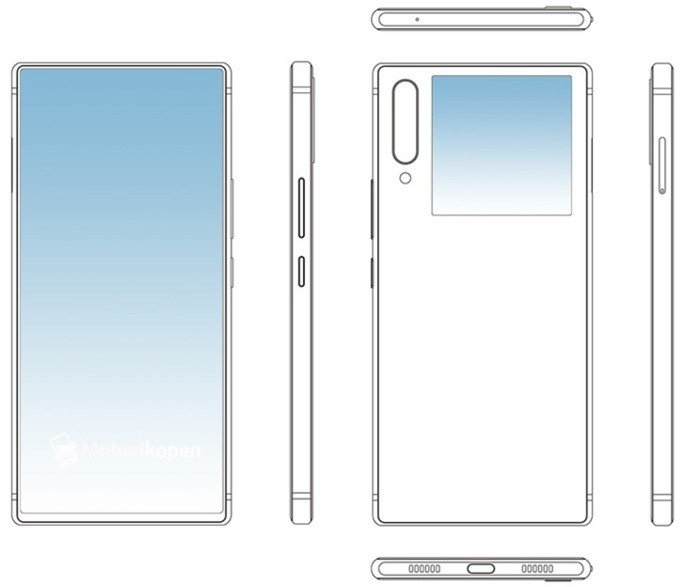 ZTE duplo ecrã smartphone