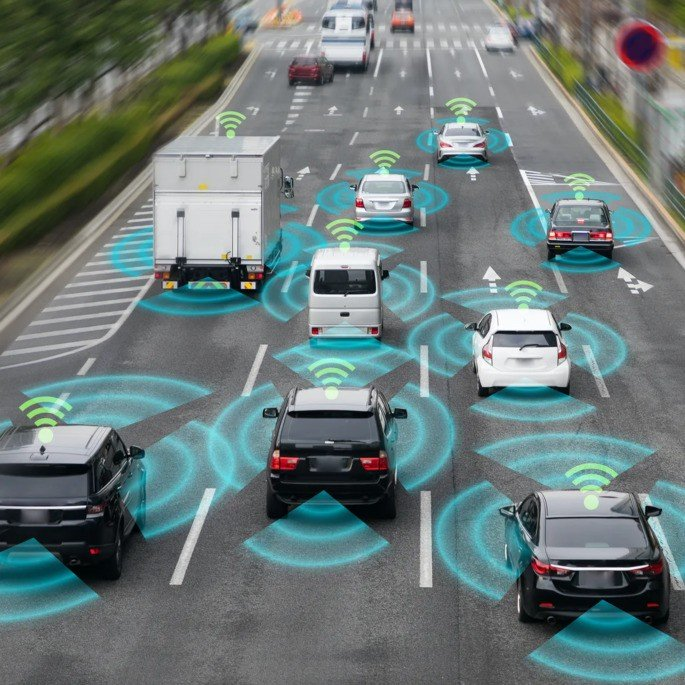 Carros autónomos na estrada