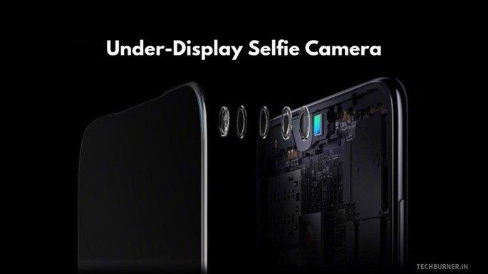 câmara por baixo do ecrã