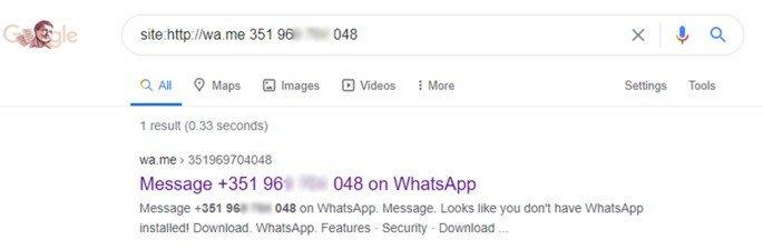 WhatsApp segurança Google