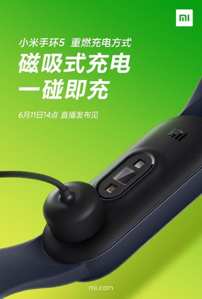 Xiaomi Mi Band 5 carregamento magnético