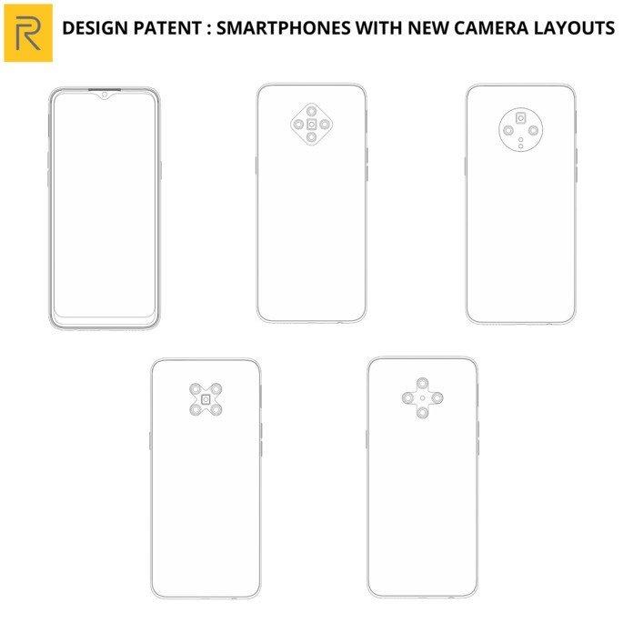 Realme patent design cameras