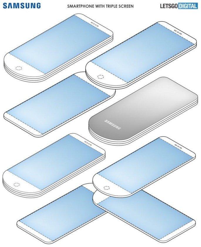 Samsung patente design peculiar
