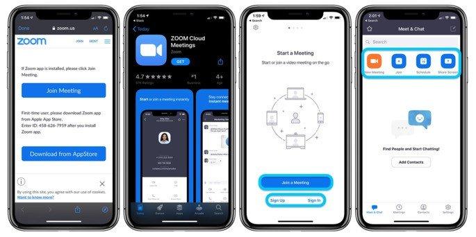 Zoom iOS AppStore