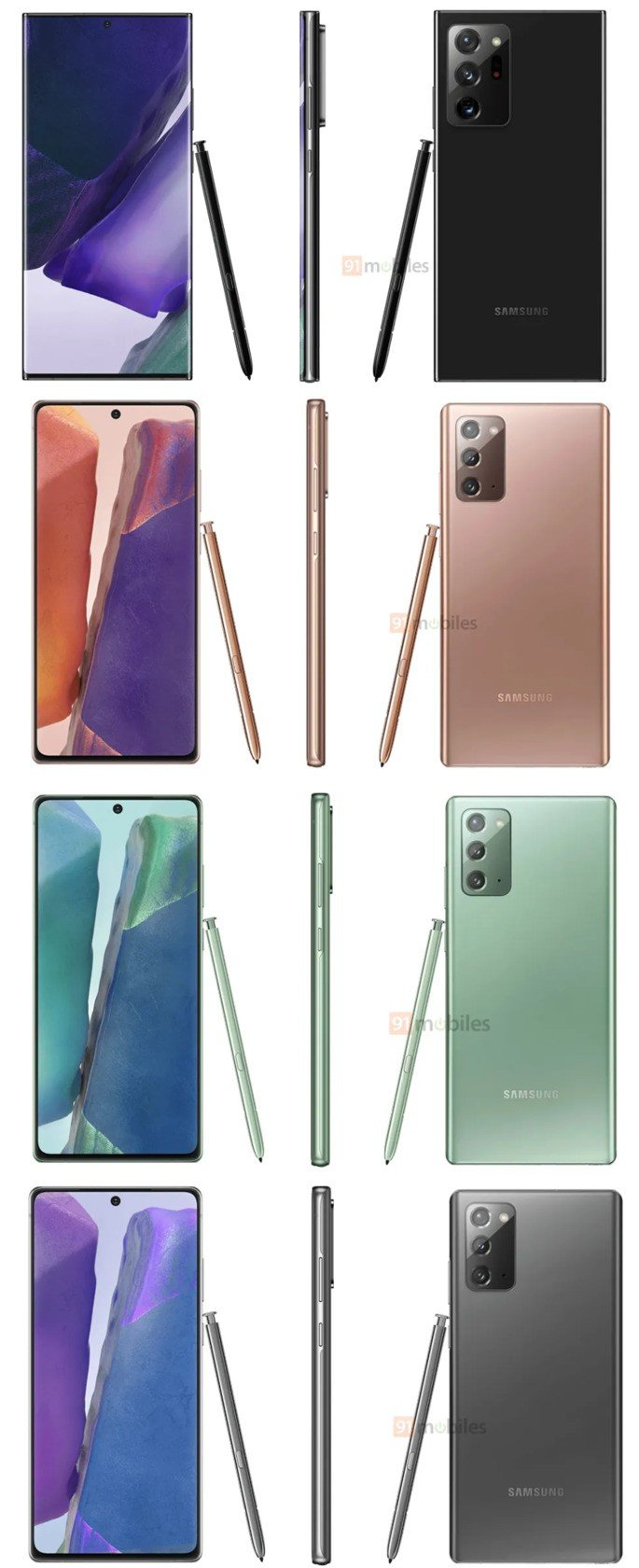 Samsung Galaxy Note 20 cores