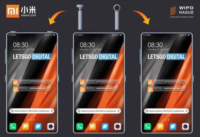 Xiaomi patente smartphone earphones bluetooth