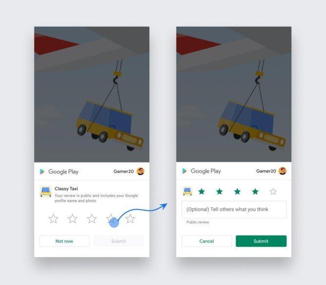 Google Play Store Android classificação
