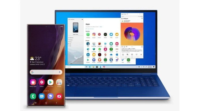 Samsung Windows 10 Your Phone Android app