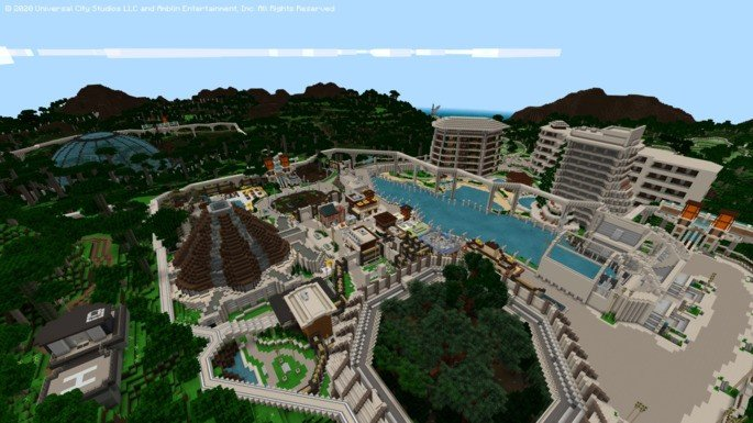 Jurassic World resort Minecraft