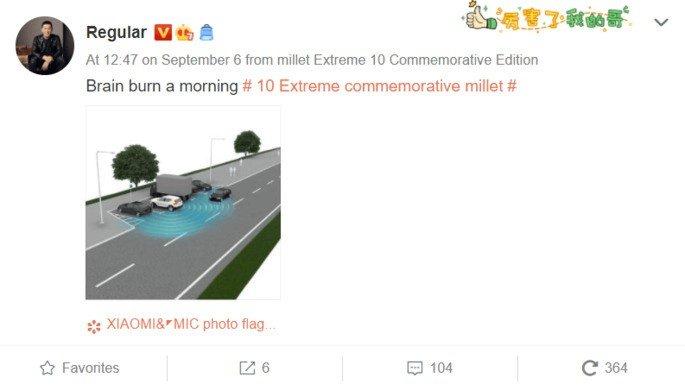 Xiaomi Mi 10 Ultra corrida de carros