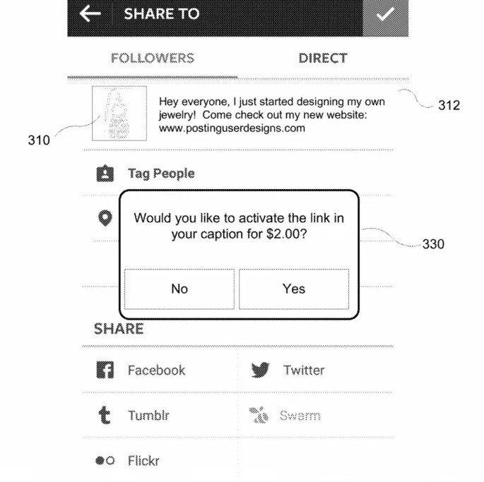 Instagram link foto patente