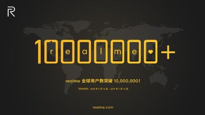 Realme 10 milhões de smartphones