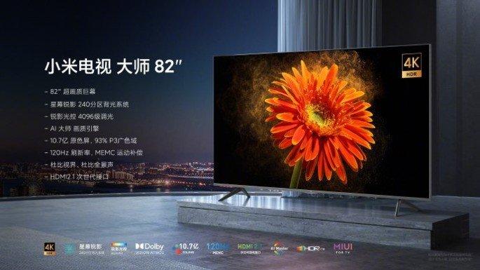 Xiaomi Mi TV Lux 82' polegadas 4k