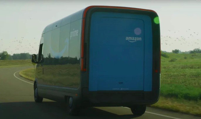 Rivian carrinha elétrica Amazon
