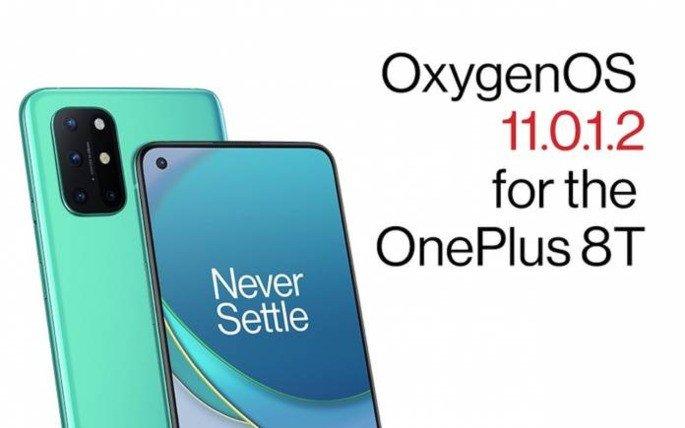 OnePlus 8T atualização