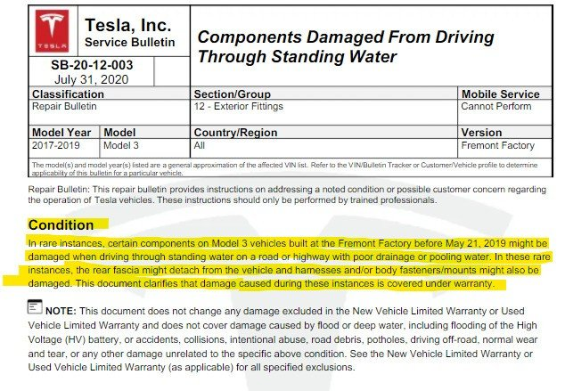 Tesla Model 3 problemas