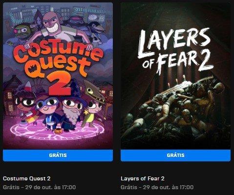 Jogos grátis Epic Games Store