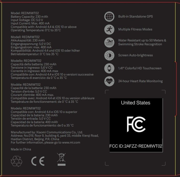 Xiaomi Mi Watch Lite caixa