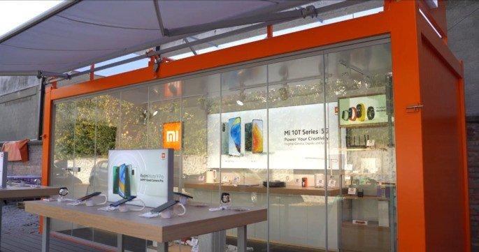 Xiaomi loja sobre rodas