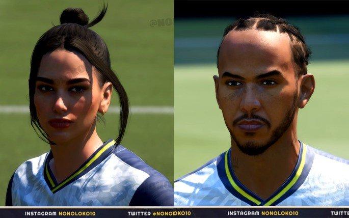 Dua Lipa Hamilton FIFA 21