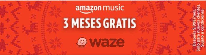 Waze Amazon Music grátis
