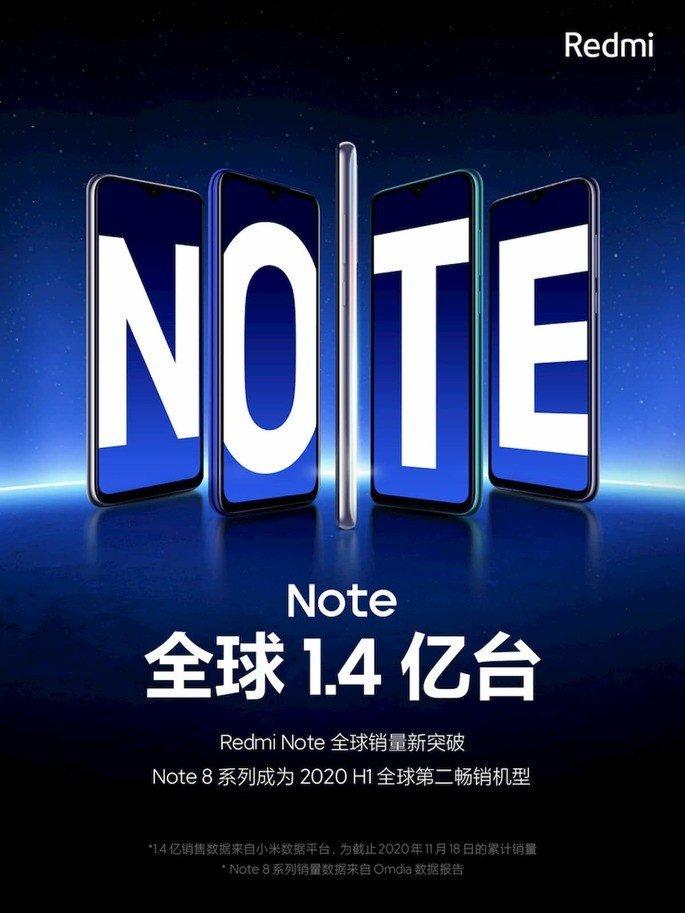 Linha Redmi Note da Xiaomi atinge 140 milhões de unidades vendidas