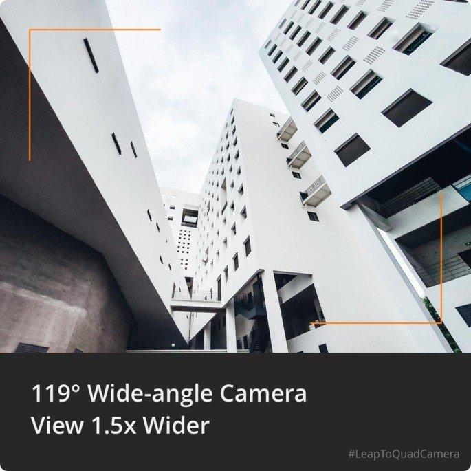 Realme 5 ultrawide angle câmara