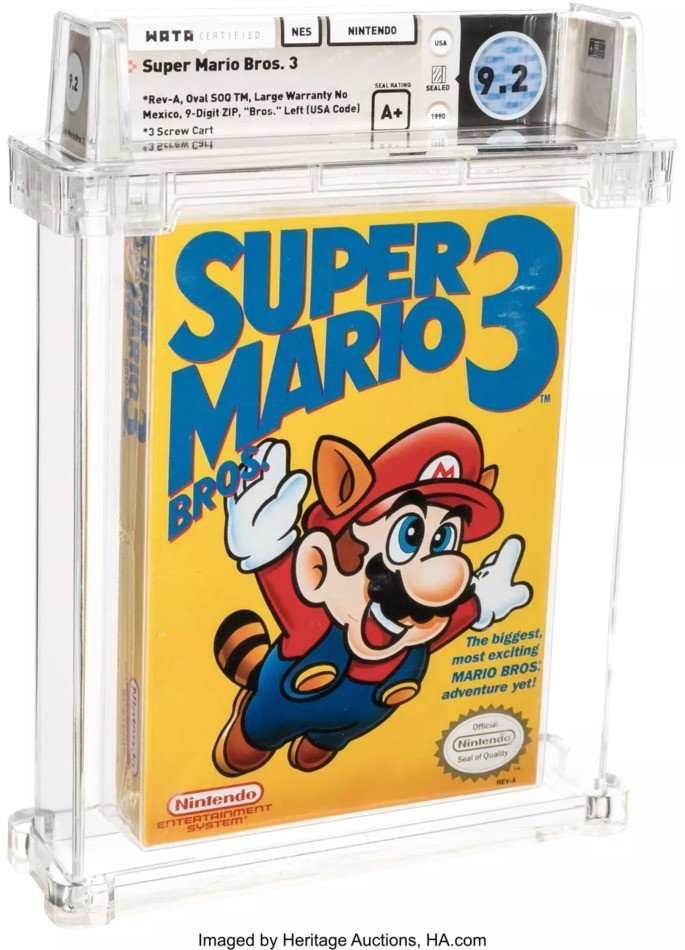 Super Mario Bros 3 NES recorde venda