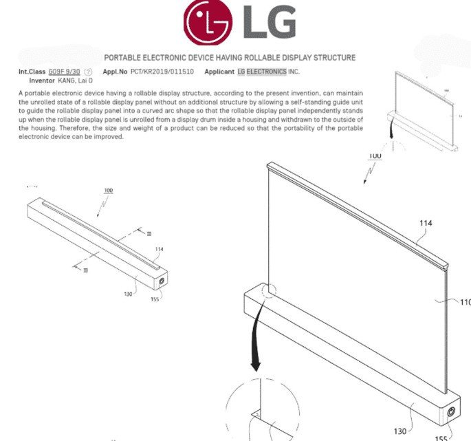 LG computador portátil ecrã rolável