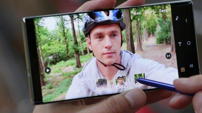 Edição de vídeo S Pen