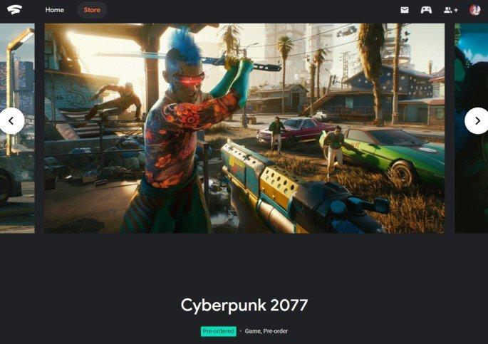 Google Stadia Cyberpunk 2077